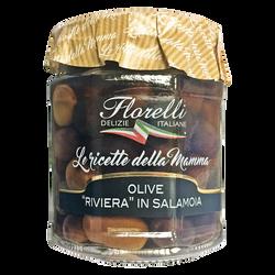 """Olives """"riviera"""" en saumure FLORELLI, 200g"""