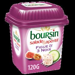 Fromage BOURSIN Salade & Apéritif Figue & 3 Noix 120g