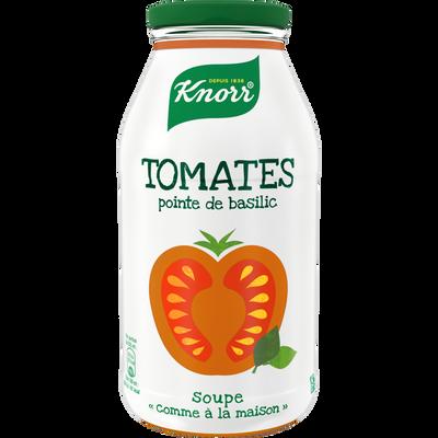 """Soupe """"comme à la maison"""" tomates pointe basilic KNORR, bouteille de 45cl"""