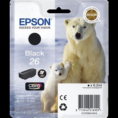 Cartouche d'encre EPSON T2601 noir Ours Polaire sous blister