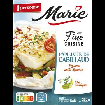 Marie Papillote De Cabillaud Riz Aux Petits Legumes Marie, 300g