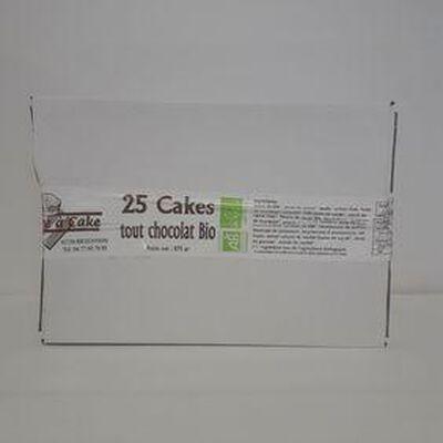 Cakes tout chocolat bio LA BOITE A CAKES boite x25