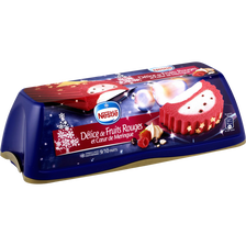 Nestlé Bûche Glacée Délice De Fruits Rouges Et Coeur De Meringue , 540g
