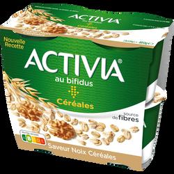 Spécialité laitière sucrée au bifidus saveur noix céréales ACTIVIA, 4x120g