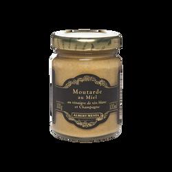 Moutarde au miel, au vinaigre de vin blanc et Champagne ALBERT MENES, 100g