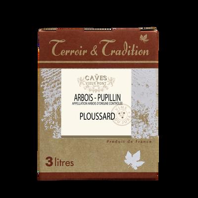 Arbois-pupillin ploussard LES CAVES DU VIEUX MONT, bag-in-box 3 l