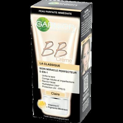 Soin visage B.B. crème clair Nutritionist Miracle GARNIER, tube de 50ml