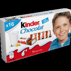 Chocolat  KINDER, x16 soit 200g