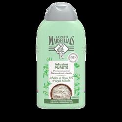 Shampoing purifiant fraicheur infusion thym & argile bio LE PETIT MARSEILLAIS, 250ml