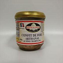 Confit de Fois Artisanal au Fine Champagne SAVEURS DES MAUGES 180g