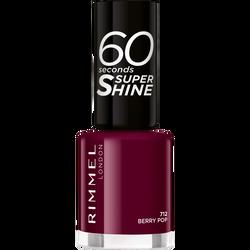 Vernis à ongles 60 seconds super shine colour block 712 berry pop RIMMEL, nu, 8ml
