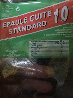 Épaule cuite standard, BROCELIANDE, 10 tranches, 450g