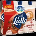 Lactel Boisson Lactée Uht Sucrée Arômatisée Au Café Et Au Cacao Cappuccino , 3 Bouteilles De 220ml