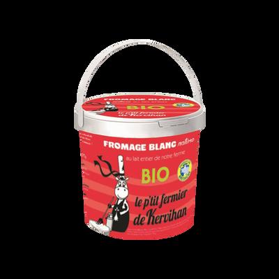 Fromage blanc au lait entier nature bio LE P'TIT FERMIER DE KERVIHAN,30% de MG, 500g