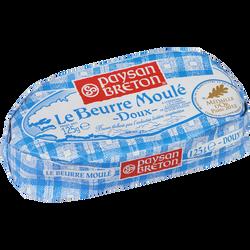 Beurre moulé doux PAYSAN BRETON, 82% de MG, 125g