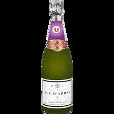 Brut Vin Mousseux  Duc D'ardan U, Bouteille De 75cl