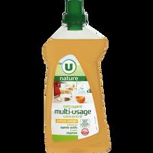 Nettoyant ménager multi-usage parfum orange U NATURE, bidon de 1l