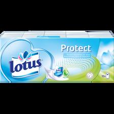 Mouchoirs blanc protect LOTUS, 10 étuis