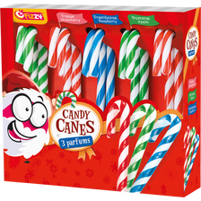 Fizzy Sweet Candy Canes Sucre D'orge Aux Colorants Naturels , 140g