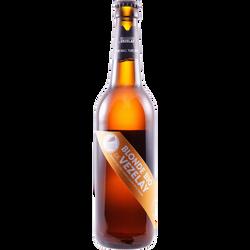 Bière blonde Bio BRASSERIE DE VEZELAY, 4,6°, bouteille de 50cl