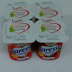 CARESSE FRAISE CERISE 4X125G