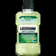 Listerine Bain De Bouche Quotidien Anti-caries Sans Alcool Goût Plus Léger Au Thé Vert Listerine, Bouteille De 500ml