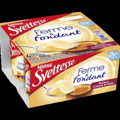 """Yaourt maigre saveur crème brûlée """"Ferme&Fondant"""" SVELTESSE, 4x125g"""