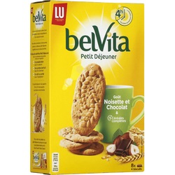 Biscuits Petit Déjeuner chocolat et noisette LU, 400g