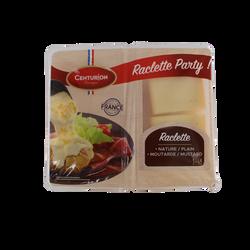Fromage pour raclette au lait pasteurisé 28% de matière grasse, nature/moutarde, CENTURION 800g