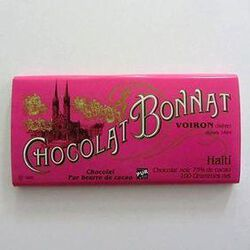 CHOCOLAT NOIR GRAND CRU D'EXCEPTION HAITI 100G - BONNAT CHOCOLATIER