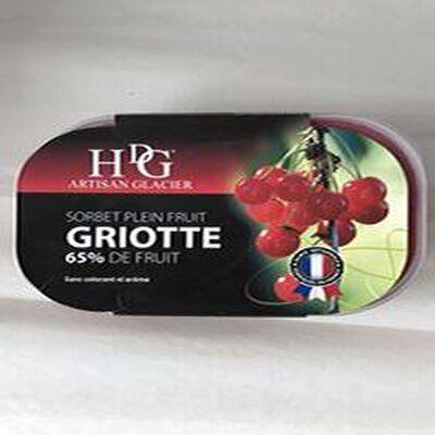 Sorbet plein fruit 65% Griotte GINEYS