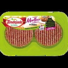 Moelleux de veau saveur barbecue, TENDRIADE, 2 pièces, barquette, 200g