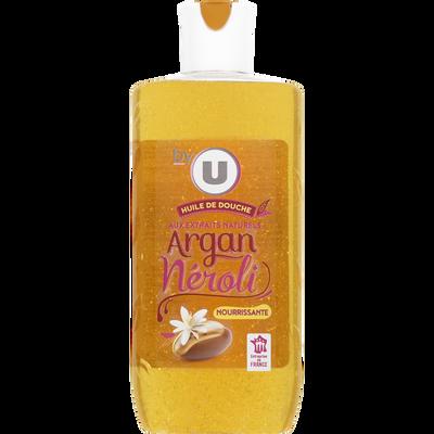 Huile de douche parfum néroli & huile d'argan BY U, flacon de 250ml
