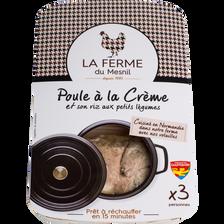 Poule à la crème, 1kg