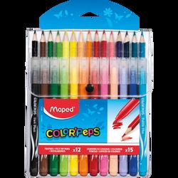 Feutres de coloriage et crayons de couleurs MAPED Color Peps, pack de12 feutres + 15 crayons, coloris assortis