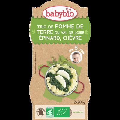 Bol pommes de terre épinards chèvre BABYBIO, 2x200g soit 400g