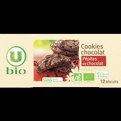 Cookies chocolat pépite de chocolat U BIO, paquet de 175 g