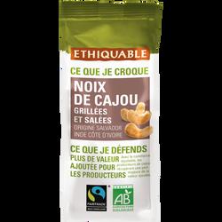 Noix de cajou grillées à sec sans sel El Salvador Bio ETHIQUABLE, 100g