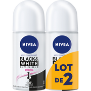 Nivea Déodorant Féminin Invisible Black & White Clear Nivea, 2x50ml