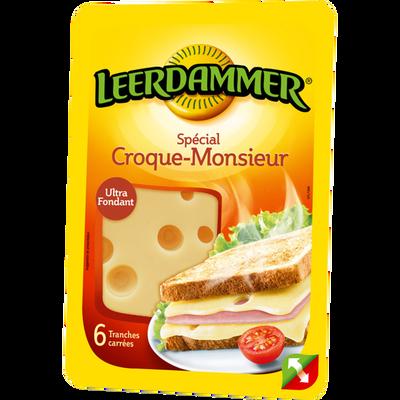 Fromage au lait pasteurisé LEERDAMMER Croque Monsieur, 30%MG, 6tranches, 150g