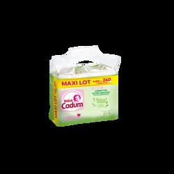 Lingettes Nat.Caresse BB Cadum bio, 4x60