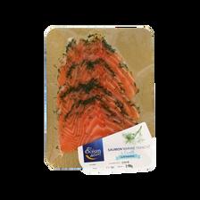 Saumon mariné à l'aneth 4/6 tranches, transformé en France, barquette140g