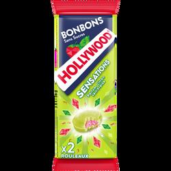 Bonbons sans sucres HOLLYWOOD, sensation citron fraise, 52g
