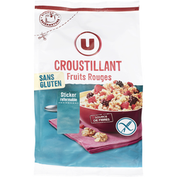 Croustillant fruits sans gluten U, 375g
