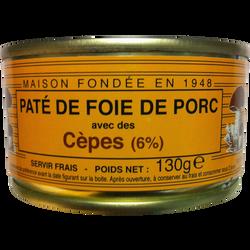 Pâté de foie pur porc aux cèpes LOU GASCOUN, 130g