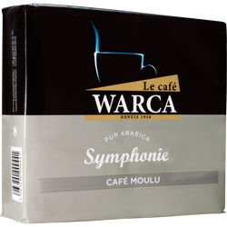 Café moulu 100% arabica Symphonie CAFES WARCA, 2 paquets de 250g