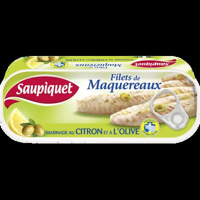 Maquereaux marinade citron olives SAUPIQUET, 176g