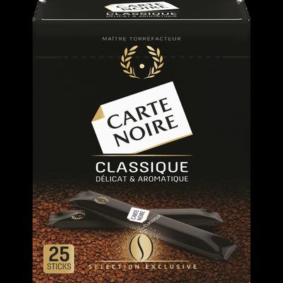 Café instant classic CARTE NOIRE SAS, 25 sticks, 45g
