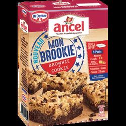 Mon brookie pépites chocolat ANCEL Dr.Oetker, boîte de 430g