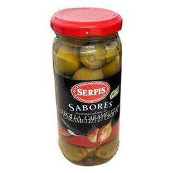 Olives Farcies aux oignons caramélisés, bocal de 125G - SERPIS